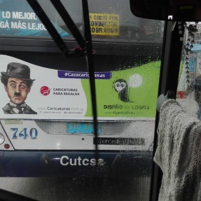 Cazacaricaturas omnibus montevideo cutcsas montevideo, Cazacaricaturas